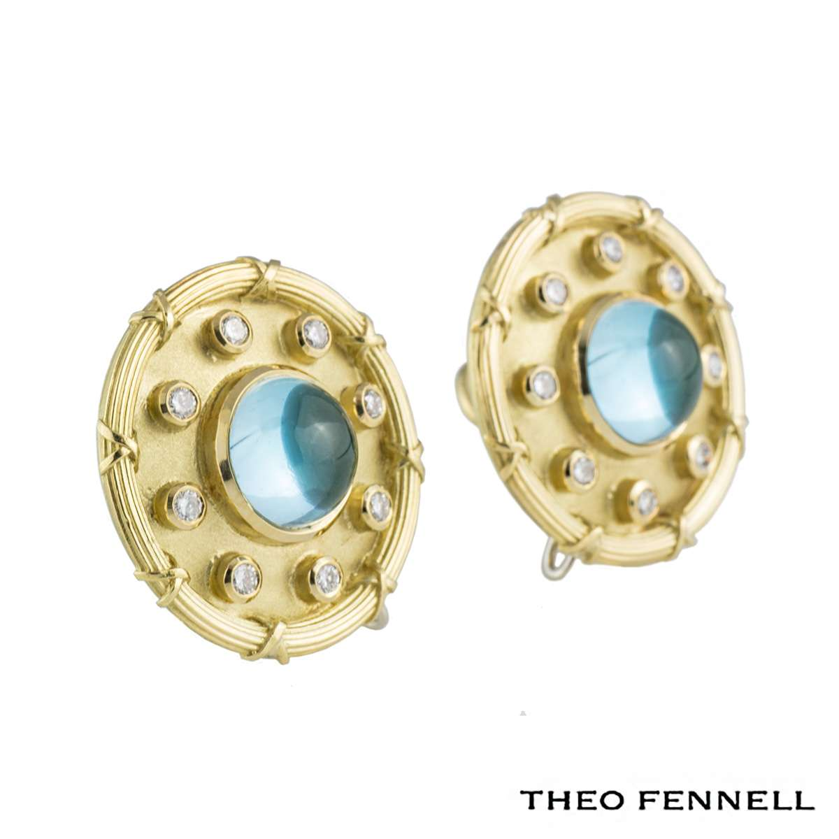 Theo Fennell Diamond Topaz Earrings 0.48ct G/VS